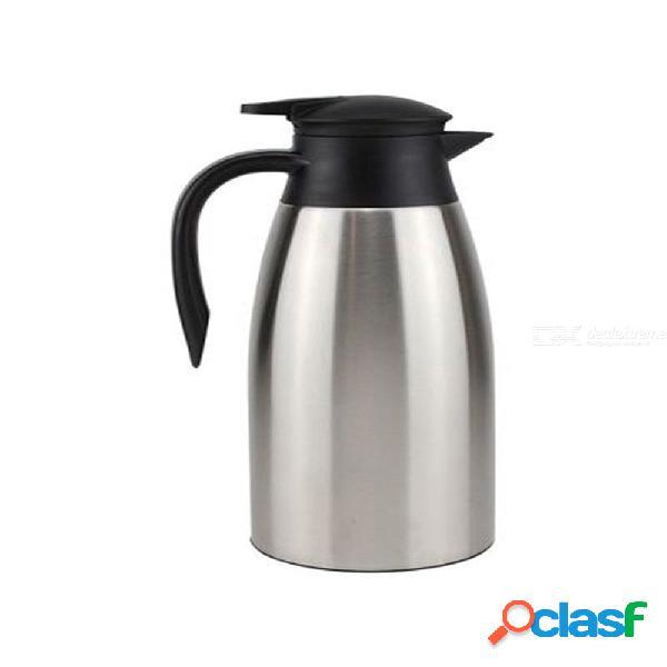 Gran capacidad hervidor térmico de doble capa de acero inoxidable cafetera de café aislamiento térmico frasco de vacío hervidores jarra
