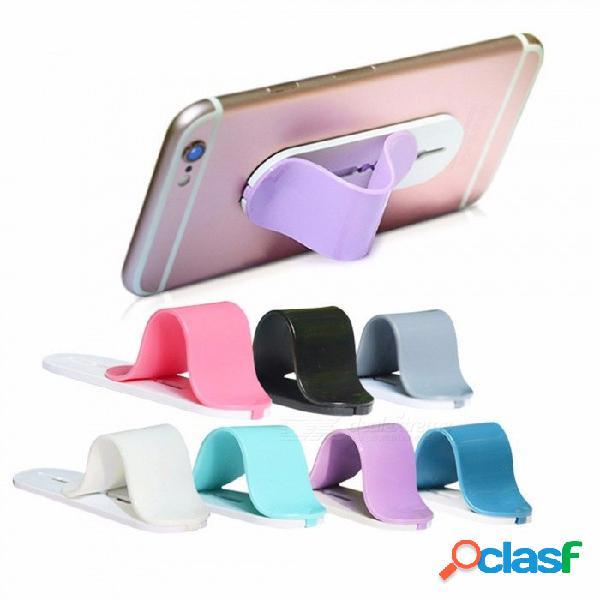 Nuevo diseño empuje y tire del soporte del anillo del teléfono móvil de dedo, soporte de soporte de férula posterior para teléfonos inteligentes