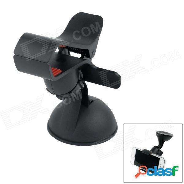 Soporte del soporte del soporte de la ventosa del coche de la rotación de 360 grados para el gps / teléfono móvil - negro + rojo