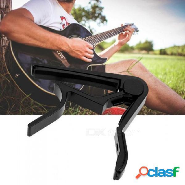 Accesorios de guitarra aleación de aluminio afinador de guitarra abrazadera de llave profesional capo para instrumentos musicales acústicos eléctricos