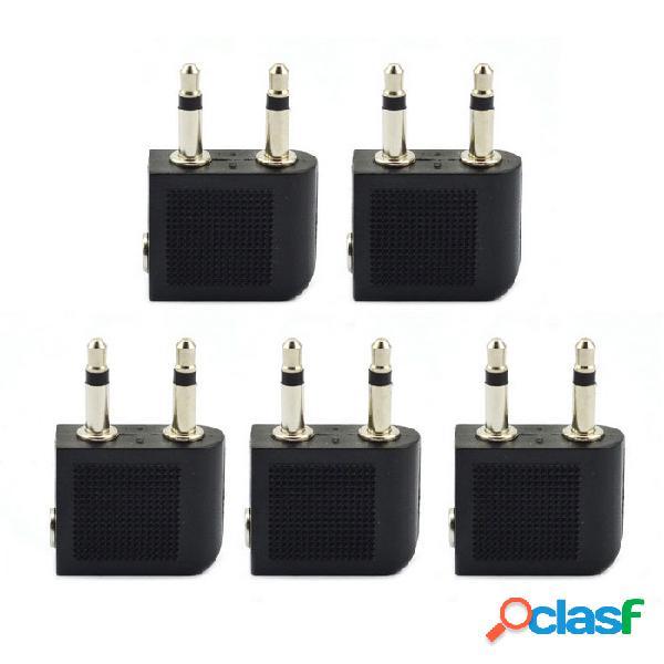 Auriculares de la línea aérea del jtron 3.5mm auriculares estéreos del convertidor del audio del convertidor (5 pces)