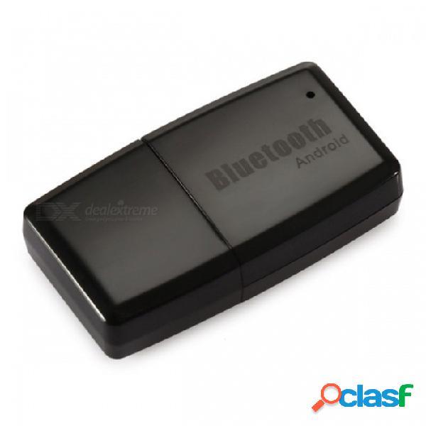 Car stereo 3.5mm interfaz aux dongle usb inalámbrico bluetooth v4.1 adaptador de audio y receptor de música para andriod phone tablet pc