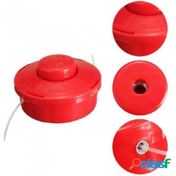 Cortacésped del jardín partes accesorias universal cortadora de césped línea de nylon bobina cortadora de césped cortadora de césped adorno rojo