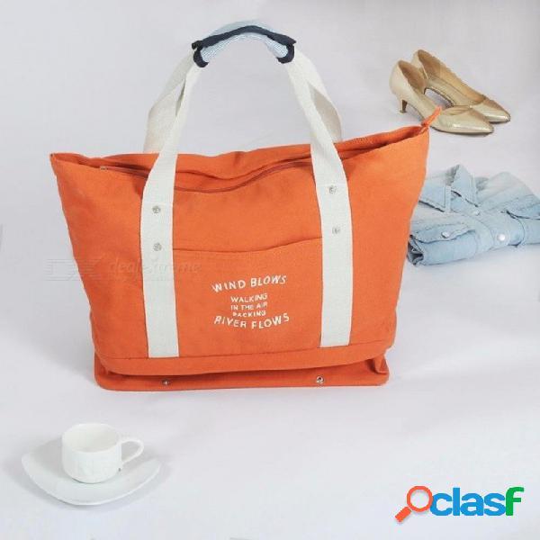 Gran capacidad de embalaje de equipaje bolsa / hombro compras de viaje bolsa grande bolsa de almacenamiento de ropa plegable organizador zapatos azul cielo
