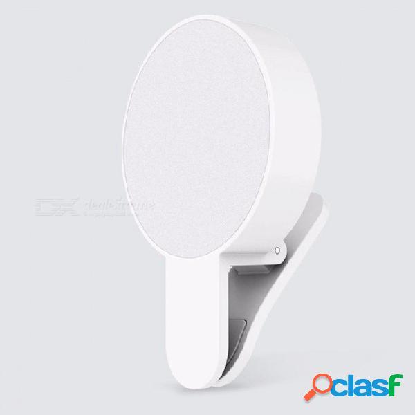Original xiaomi mijia yuemi tres atenuaciones diseño minimalista belleza relleno de luz led (versión con carga usb) para xiaomi smart home white