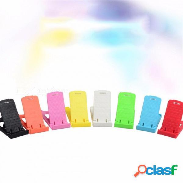 Soporte de coche pequeño soporte soporte para teléfono soporte para teléfono cabeza arriba color de visualización color aleatorio