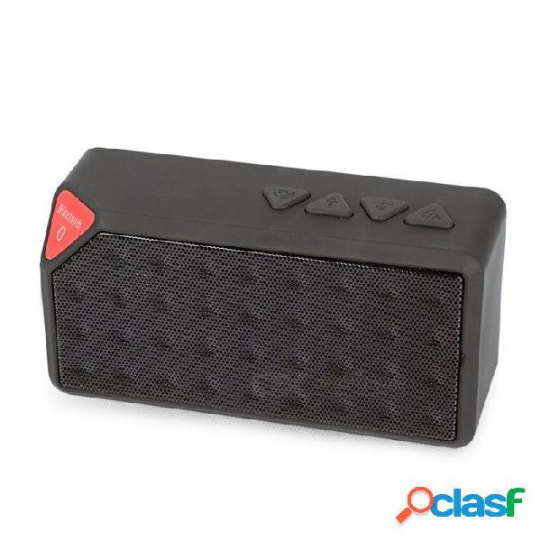 X3 altavoz incorporado micrófono bluetooth altavoces inalámbrico mini altavoz altavoces portátiles negro / altavoz