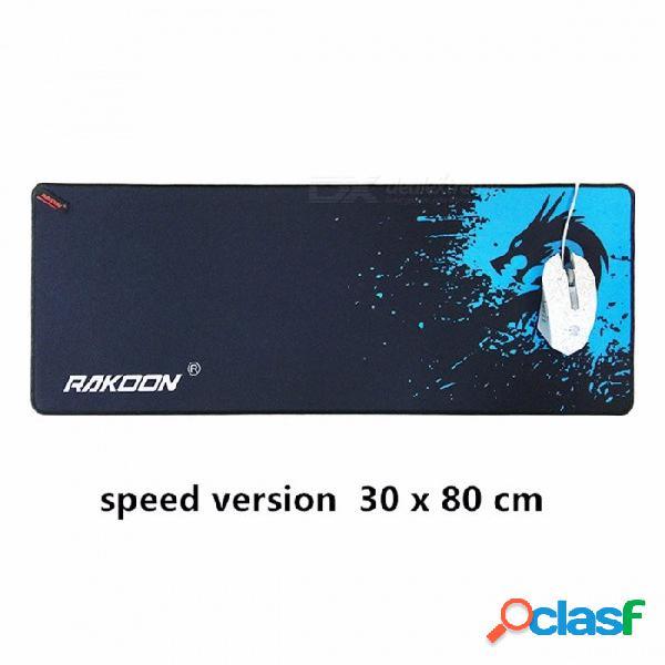 Zimoon store alfombrilla de ratón para juegos de gran tamaño que bloquea el borde del alfombrilla de ratón versión de control de velocidad para dota warcraft mousepad 6 tamaños speed30x80cm