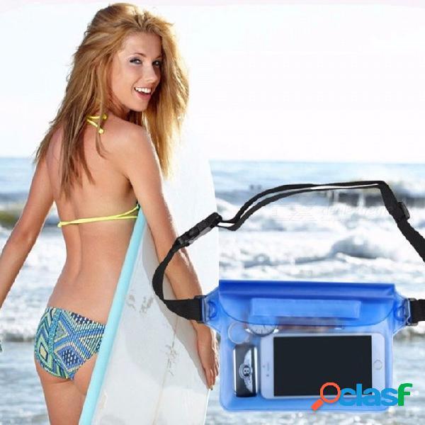 Bolsa impermeable de almacenamiento de deportes acuáticos para teléfono móvil bolso de la cintura para nadar en la playa al aire libre flotando en agua