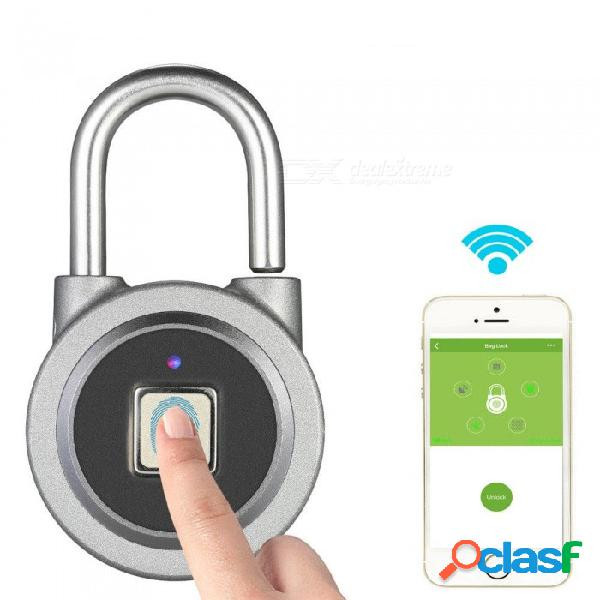 Cerradura de llave inteligente para huellas dactilares esamact, botón de aplicación impermeable desbloqueo de contraseña cerradura de puerta de candado antirrobo para sistema ios android