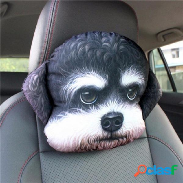 Coche reposacabezas 3d almohada cabeza reposacabezas reposacabezas almohada asiento espalda perro encantador gato animal huskies regalo presente coche estilo otro