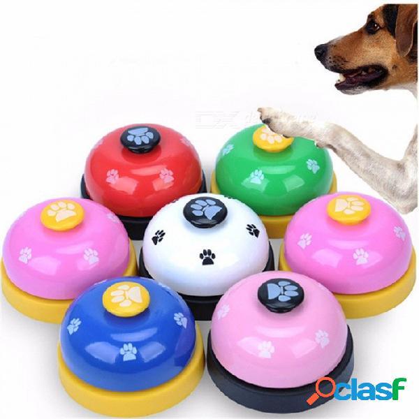 El entrenamiento del juguete del animal doméstico llamó la cena los juguetes del perro del anillo de la impresión de la pata de la pequeña campana para el perrito del peluche