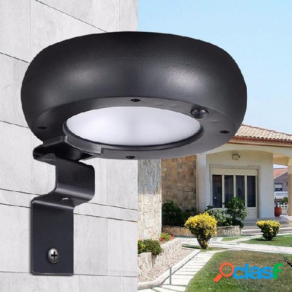 Luz Solar De Pared Microondas De Alta Potencia Inducción De Radar Luz De Pared Exterior Impermeable Solar Luz De Jardín Blanco / 0-5w / Negro