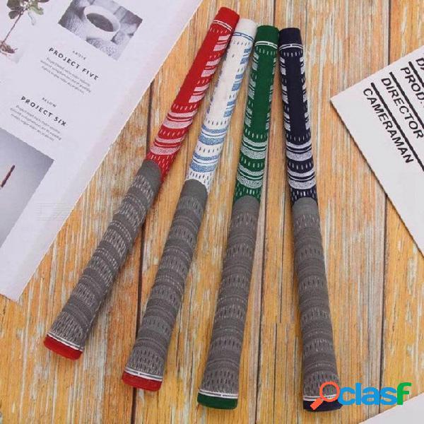 Material de caucho, varillas de hierro, palos de golf, 1 pieza, palos de golf, palos de golf, puños con varios colores para la opción naranja