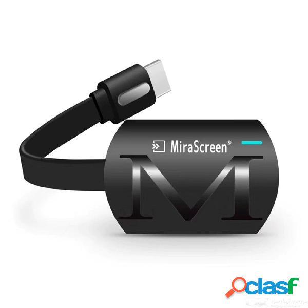 Mirascreen g4 2.4 ghz wifi inalámbrico pantalla adaptador hdmi miracast dlna airplay para ios / android / windows