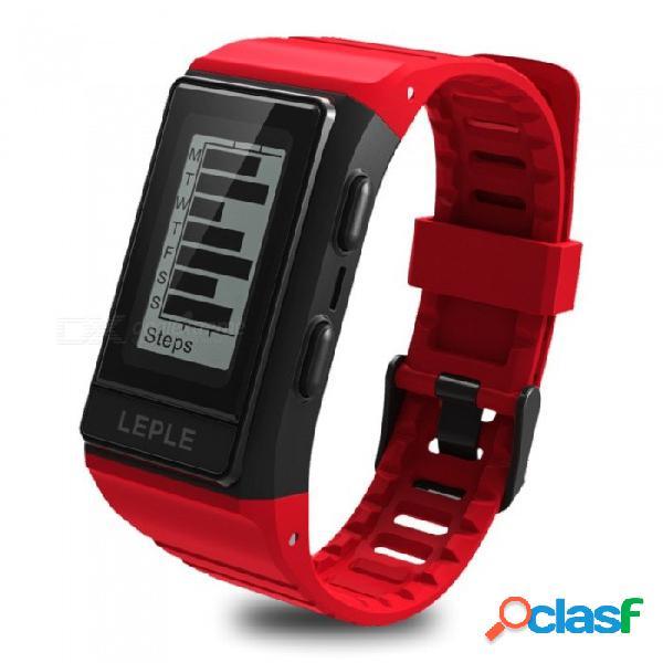Pulsera inteligente bluetooth s909 al aire libre con gps, monitor de ritmo cardíaco / sueño, modo de electrocardiograma, modo deportivo múltiple - rojo