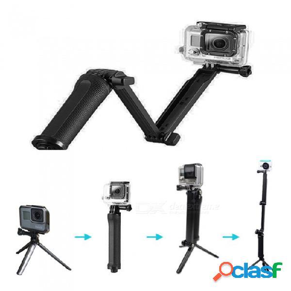 Xsuni stick temporizador de 3 vías para gopro, trípode de cámara deportiva / varilla estabilizadora de mano