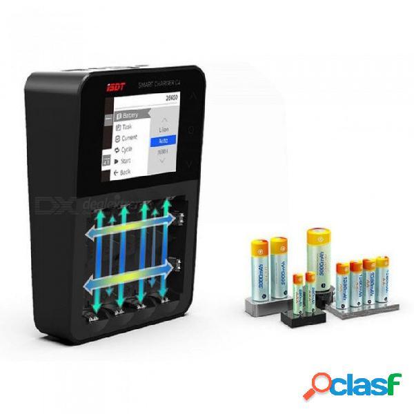 Isdt c4 8a cargador de batería inteligente con pantalla táctil original con salida usb para 18650 26650 aa aaa batería