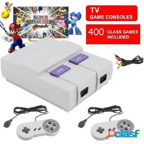 Super nes snes mini consola de juegos sfc de entretenimiento clásico construido en 400 juegos clásicos enchufe de la ue