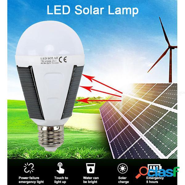 Bombilla led recargable e27 lámpara solar exterior de emergencia impermeable ip65 bombillas de energía solar para acampar senderismo pesca luz blanca / 6-10w