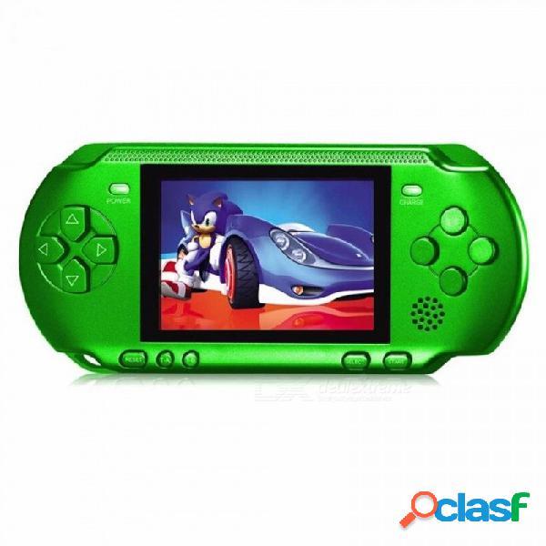 Consola de juegos portátil máquina de juegos de 3.2 pulgadas rs-15 construido 318 juegos juego clásico psp compatible con av doble jugador color aleatorio