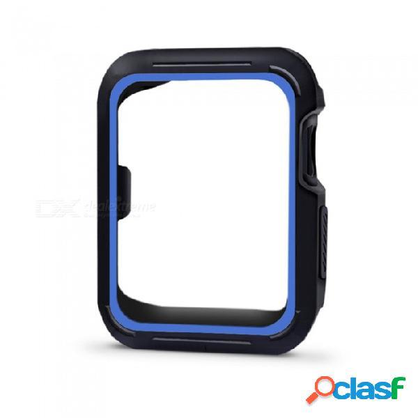Funda protectora protectora a prueba de golpes cubierta a prueba de golpes para el reloj de manzana de 38 mm serie 3/2/1, nike + edición sport - azul