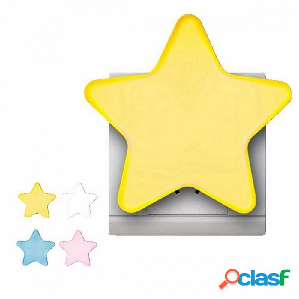 Mini estrella led luz nocturna ac110 / 220v ee. uu. enchufe enchufe de pared lámpara de noche sensor de luz control novedad niños dormitorio luz ee. uu.