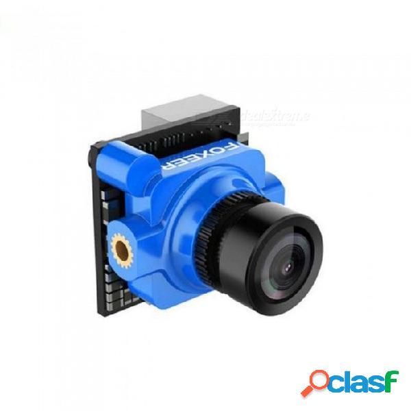 "Original foxeer arrow micro pro 1/3"" ccd 2.1mm 600tvl pal / ntsc cámara fpv con osd negro / azul / rojo fibra de carbono rojo ntsc"