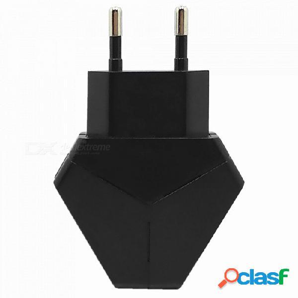 Adaptador de corriente de cargador de enchufe usb eu de triángulo 5v 2.1a dual para iphone 7 / 8 / x / samsung / xiaomi / huawei