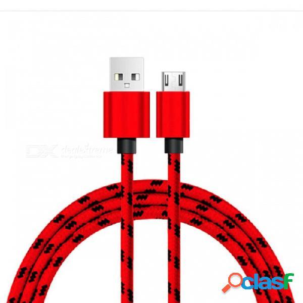 Cable micro usb naxtop, cable de datos usb de carga rápida 2a para android huawei xiaomi samsung lg sony y más
