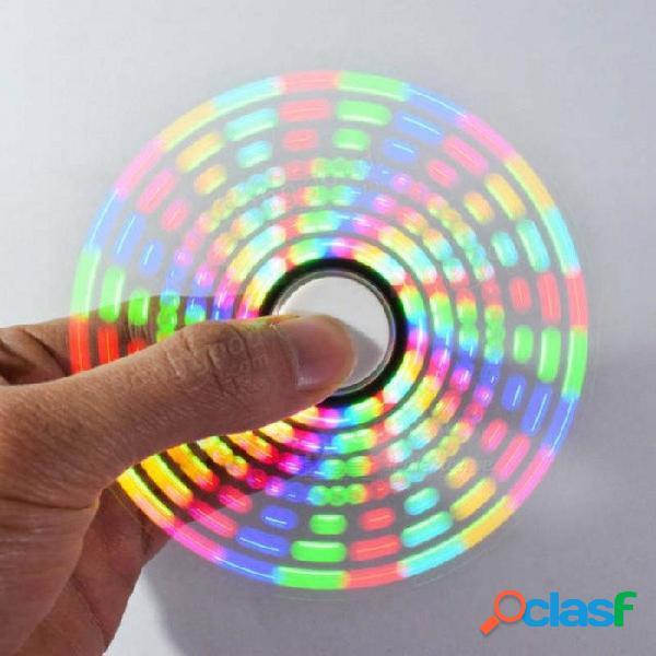 Divertido juguete fresco bricolaje a todo color giratorio pov led kit electrónico 5050 rgb led giratorio fidget mano spinner