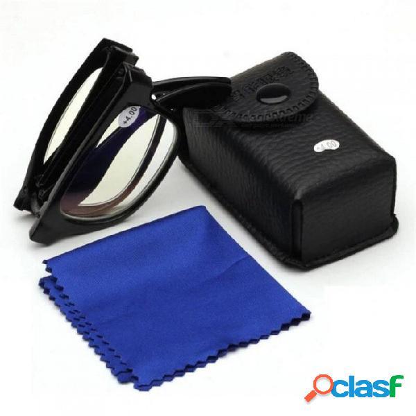 Gafas antirreflectantes transparentes antirreflectantes, gafas de montura, gafas de montura, gafas de lectura baratas para unisex negro / + 100