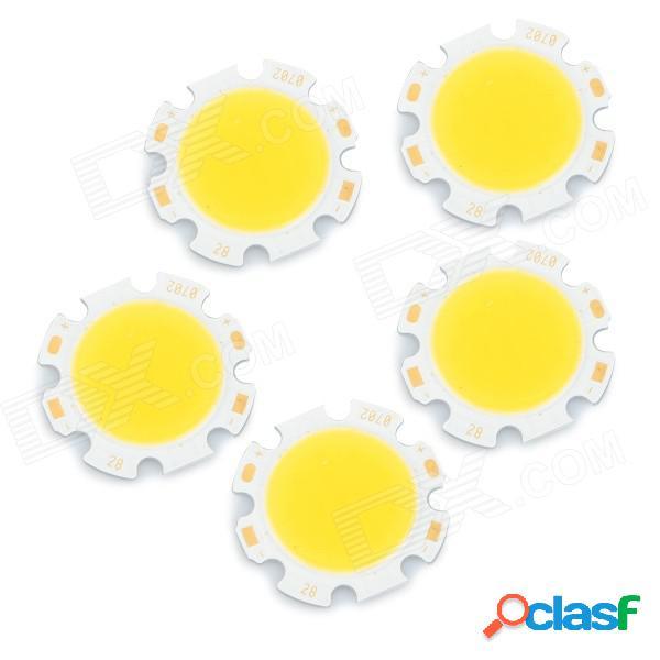 Jrled 7w 700lm 3300k 14-cob led blanco cálido emisoras de luz - blanco + amarillo (dc 23 ~ 25v / 5 pcs)