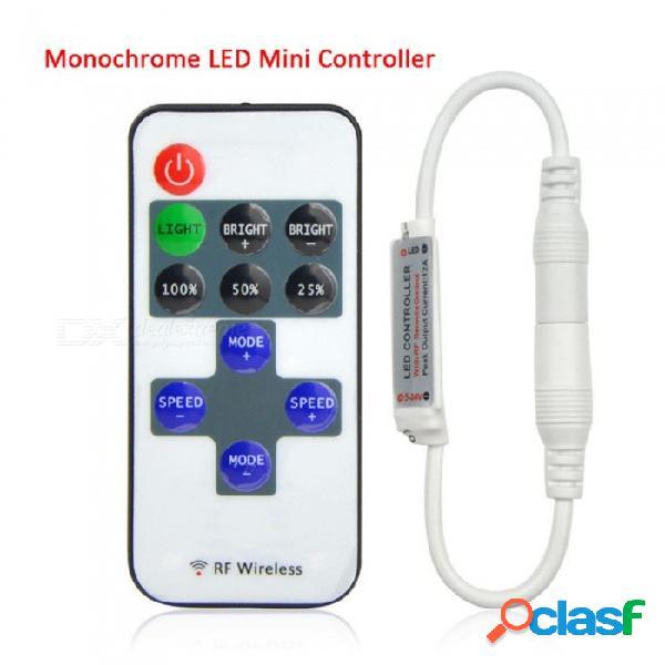 Regulador remoto inalámbrico del interruptor del interruptor de 12v rf para la mini luz de tira del led blanca