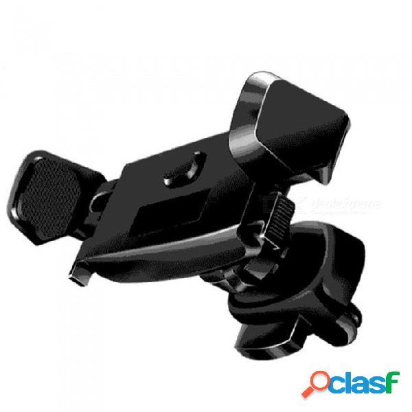 Soporte del soporte del soporte de ventilación del coche con rotación de 360 grados para la serie iphone, gps, teléfono móvil - negro