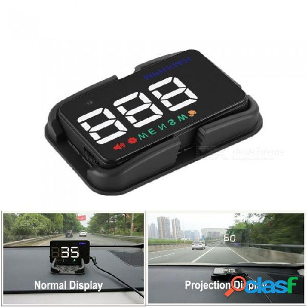 Universal auto hud gps velocímetro speedo head up display digital sobre el alerta de velocidad parabrisas proyector auto navegación