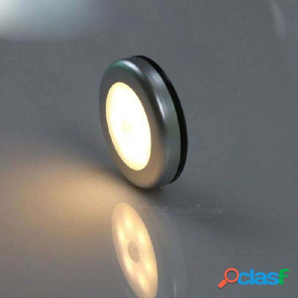 6 led infrarrojo pir sensor de movimiento 6 led luz nocturna detector magnético inalámbrico luz lámpara de pared blanco cálido armario luz blanco cálido