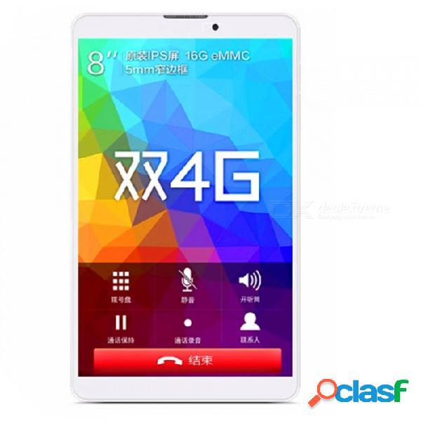 Binai g808 mediatek mt6737 quad-core 1.3ghz cpu android 7.0 4g tableta del teléfono con 2gb de ram, 16gb rom - blanco