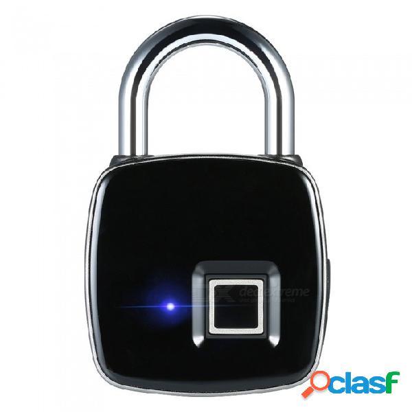 Cerradura de huella dactilar sin llave inteligente recargable del usb, cerradura antirrobo impermeable de la caja del equipaje de la puerta del candado de la seguridad ip65