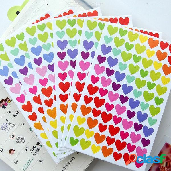 El corazón del amor estrellas lindas puntean el diario de las decoraciones para los álbumes de fotos diseño diy pegatinas de boda 6 unids color al azar