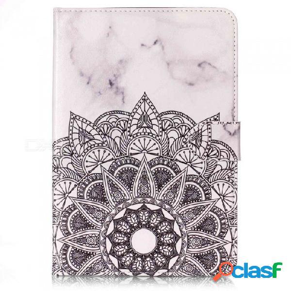 Esamact esr cubierta de goma pu cuero ultra slim fit ligero caso inteligente para ipad mini 3 - negro + blanco