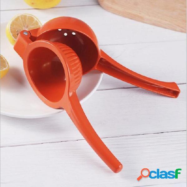 Estilo de cuchara creativa cocina de plástico fruta exprimidor de limón máquina de hacer jugo de naranja - rojo