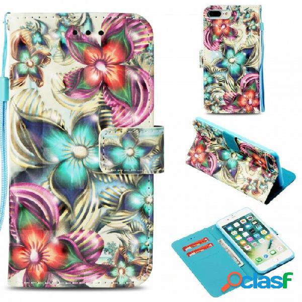 Estuche monedero magnético abatible con soporte de pie, función de soporte de tarjeta para iphone 6, 6s, 6 plus, 6s plus, 7, 8, 7 plus, 8 plus, x