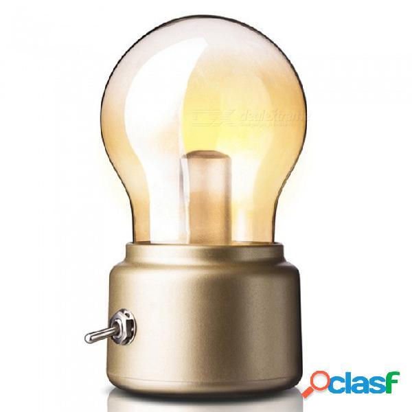 P-top estilo retro vintage con ahorro de energía batería recargable usb cargando luz nocturna bombilla led