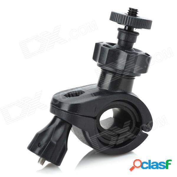 1/4 de la bicicleta de la motocicleta del coche montar el soporte de plástico para dv / cámara - negro