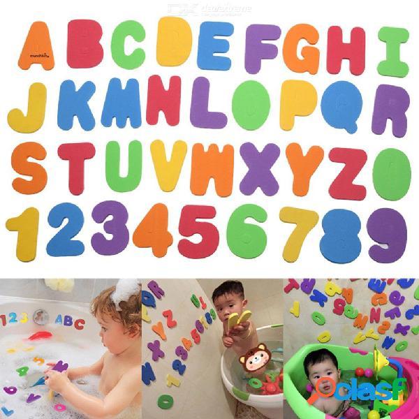 36 Piezas De Aprendizaje De Pegatinas Educativas Para El Bebé Durante La Ducha Baño De EVA Letras Alfanuméricas Agua Juguete Para Niños