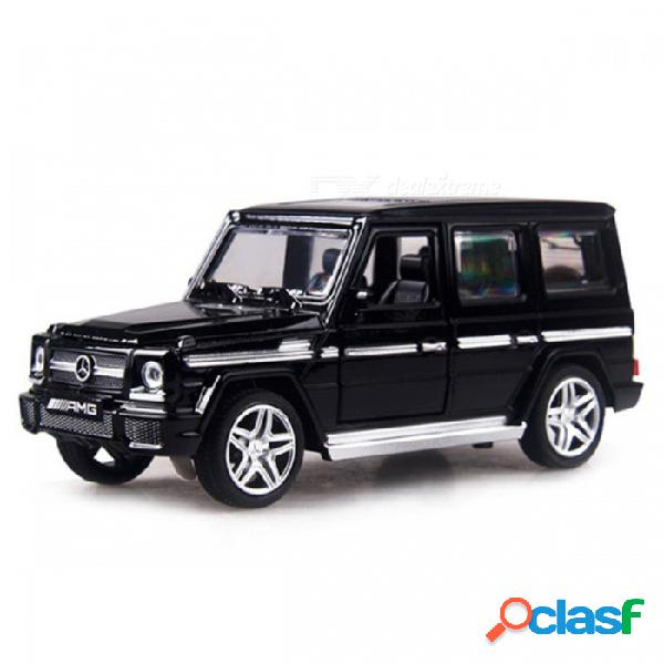 G65 1:32 escala 15 cm aleación suv coche tirar atrás juguete modelo fundido a troquel para niños - negro