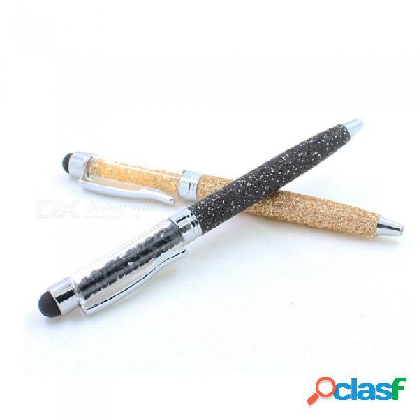 Lápiz óptico capacitivo con brillo de alta precisión, lápiz táctil para teléfono móvil, tablet pc (color aleatorio) negro