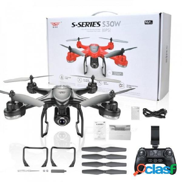 S30w doble gps dinámico sigue wifi fpv con 720p cámara gran angular rc drone quadcopter racing vs mjx bugs6 negro