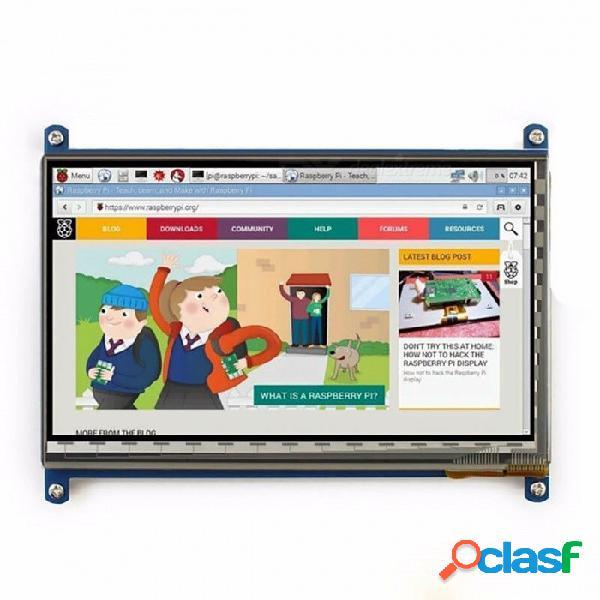 Elecrow raspberry pi 3 pantalla, pantalla táctil de 7 pulgadas hdmi hd lcd tft monitor 1024 x 600 para raspberry pi 3 2b b pcduino win7 8 blanco